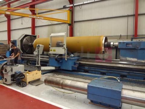 Reparación de cilindros secadores